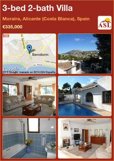 3-bed 2-bath Villa in Moraira, Alicante (Costa Blanca), Spain ►€335,000 #PropertyForSaleInSpain
