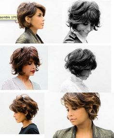 wanna give your hair a new look? Curly bob hairstyles is a good choice for you. Here you will find some super sexy Curly bob hairstyles, Find the best one for you, Short Curly Hair, Wavy Hair, Short Hair Cuts, Curly Bob, Frizzy Hair, Pixie Cuts, Thick Hair, 2015 Hairstyles, Pretty Hairstyles