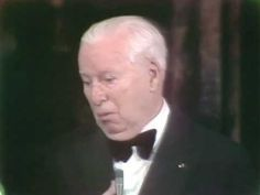 Charlie Chaplin receiving an Honorary Oscar® - 1972. He received a 12 minute standing ovation, the longest in Academy history.