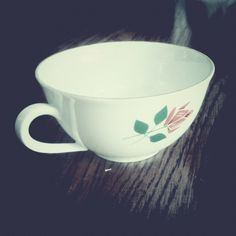 """Coffee cup - a gift for a friend, bought in """"Treasure Island"""" store in Kraków, Poland. Photo by @Tomasz Jurecki #wysokipolysk #fleastyle #vintagekitchen"""