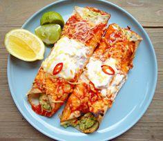 Mexicaanse wraps (vegetarisch) Veggie Recipes, Mexican Food Recipes, Vegetarian Recipes, Cooking Recipes, Healthy Recipes, A Food, Good Food, Yummy Food, Diner Recipes