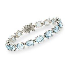 Ross-Simons - 19.50 ct. t.w. Topaz Bracelet in Sterling Silver - #547380