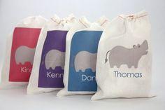 Hippo Personalized Favor Bag von PaperNook auf Etsy, $3,00