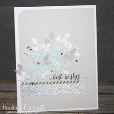 Project Idea: Best wishes card with the Birds and Nest Die. What a great concept!