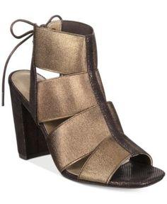 Rialto Mirabella Block-Heel Dress Sandals - Gold 6.5M