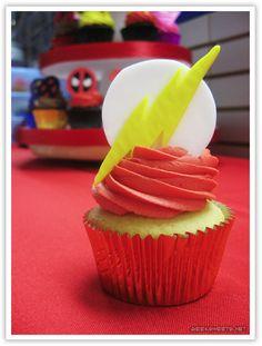 The Flash Cupcakes at the Comic Book Shoppe Art Gala 2010.