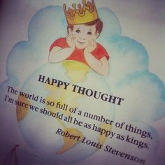 """Happy thought"""