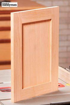 Quick and Easy DIY Shaker Cabinet Doors – Diy Furniture Ideas Diy Cupboard Doors, Shaker Cabinet Doors, Wood Cabinet Doors, Shaker Cabinets, Building Cabinet Doors, Cabinet Door Designs, Cabinet Plans, Shaker Furniture, Door Furniture