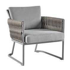 Bungalow Rose Pasley Patio Chair with Cushions Cushion Color: Chartres Silver