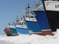 Boats, Fishing, Winter