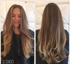 Victoria Secret Long Layer HairCut for this beauty #LongLayers #Cut #Style #Blowout #Balayage #Hair #LaJolla #Salon #danielleciaccihair  @valentehairco