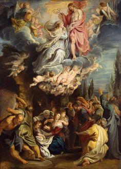 Le couronnement de la Vierge (1609-1611, Musée de l'Ermitage, Saint-Pétersbourg) de Peter Paul Rubens