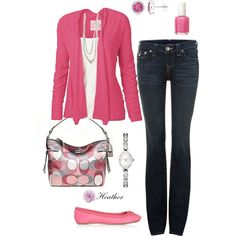 """Pink 2"" by hrtheo on Polyvore"
