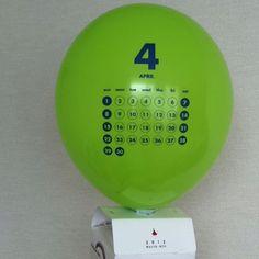 Balloon calendar, April