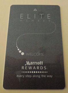 Marriott Elite Rewards Hotel Resort Card Room Key Security Swipe Plicard Used*** #Marriott
