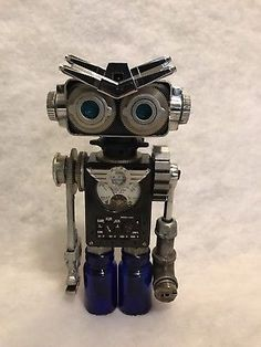 034-Blue-Eyes-034-Found-Object-Robot-Sculpture-Assemblage-By-Jenifer-Braun