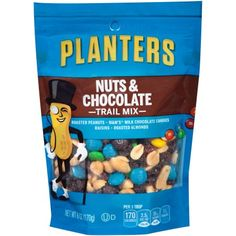 Planters Trail Mix, Nuts and Chocolate, Bags (Pack of ** See this awesome image : Fresh Groceries Honey Roasted Peanuts, Roasted Almonds, Peanut Butter Candy, Chocolate Peanut Butter, Chocolate Pack, Chocolate Candies, Kosher Snacks, Planters Peanuts, Chocolate Covered Peanuts