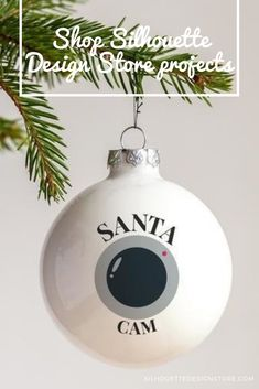 Let Santa keep watch from your Christmas tree this festive season with your very own Santa Cam Christmas Ornament! Christmas To Do List, Christmas Bulbs, Silhouette Cameo Projects, Silhouette Design, Design Projects, Craft Projects, Santa Cam, Nye, Festive