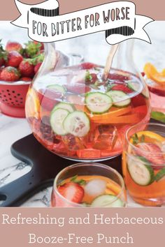 Sparkling, sassy, with an herbaceous & vegetal edge! A perfect booze-free party drink, and delightful non-alcoholic punch! For more drink recipes and zero-proof products check out our website! #summerdrinks #soberglow #sobercurious #punchrecipe #vacationdrinks #staycationdrinks Fruit Drinks, Party Drinks, Beverages, Strawberry Shortcake Cookies, Rosemary Simple Syrup, Easy Punch Recipes, Blood Orange Juice, Non Alcoholic Cocktails, Cocktail Recipes