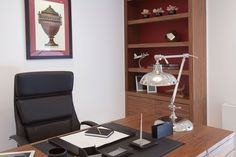 Luxury Study Room with Bespoke Desk and Bookcase | JHR Interiors