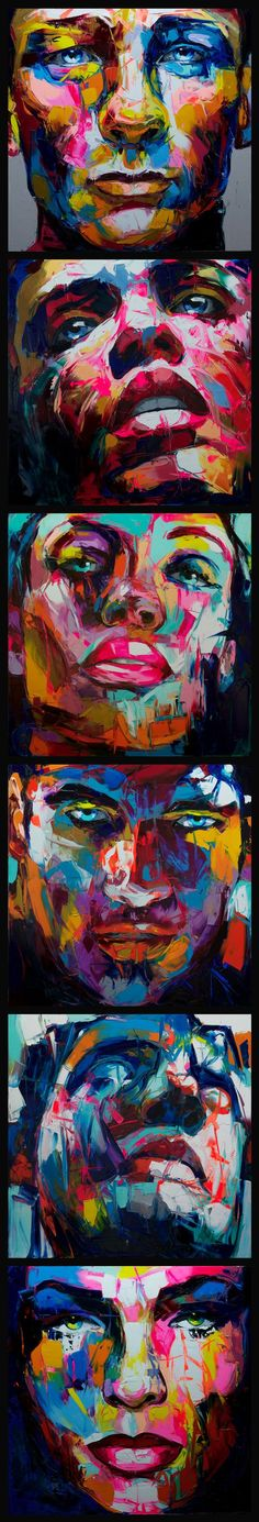 Nielly Francoise art work hand-painted oil wall moonlight face art women home decoration Modern Abstract oil painting on canvas Pintura Graffiti, Art Visage, Arte Pop, Portrait Art, Color Portrait, Abstract Portrait, Portrait Paintings, Abstract Oil, Oil Paintings