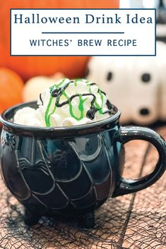 Make this delicious Witches' Brew drink for Halloween with the simple recipe from Everyday Party Magazine. #Halloween #HalloweenDrinks #WitchesBrew