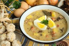 Zalewajka Mad Cook, Soup Recipes, Cooking Recipes, Polish Recipes, Polish Food, Veggie Soup, Soups And Stews, Cheeseburger Chowder, Food Art