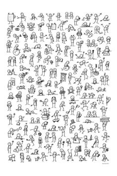 Ideas How To Draw People Easy Stick Figures Easy Disney Drawings, Disney Character Drawings, Easy Doodles Drawings, Easy Doodle Art, Simple Doodles, Cartoon Drawings, Cute Drawings, Chalk Drawings, Character Sketches