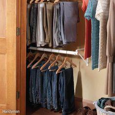 Double barre à cintres dans votre armoire