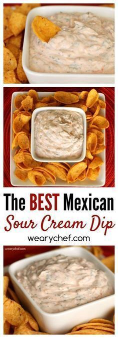 This crowd-pleasing Mexican Sour Cream Dip Recipe is perfect for last minute guests. All you need is sour cream, salsa, shredded cheese, and a few spices. You'll be ready for dipping in five minutes!
