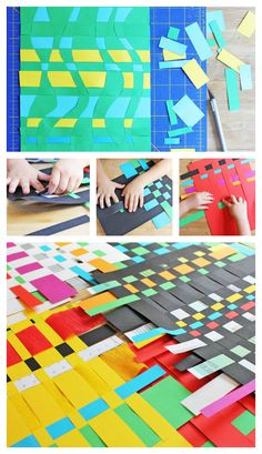 art project for kids - paper weaving activity