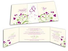 Altarfalz Hochzeitseinladung - Liebe die erblüht