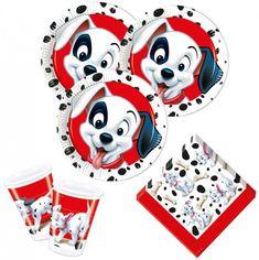 101 Dalmatiner Party Deko, mit den gepunkteten Disney Stars. Tolle Deko für deinen nächsten Kindergeburtstag unter dem Motto Disney und 101 Dalmatiner
