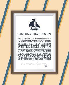 Abenteuerposter - Piraten von Vivaclair Lebensart Kunstdrucke auf DaWanda.com