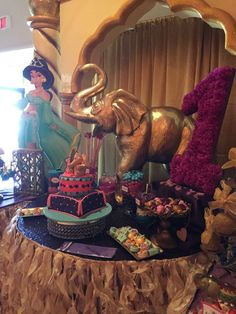 See more party planning ideas at… Jasmin Party, Princess Jasmine Party, Princess Theme Party, Disney Princess Party, Princess Birthday, Aladdin Birthday Party, Indian Birthday Parties, Aladdin Party, Birthday Ideas