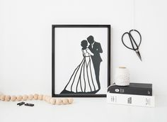 Your wedding day is one of the most important days of your life. It is filled with love and laughter. This silhouette is a great way to remember your #special day! Hang this silhouette of your wedding photo in your bedroom or even home office. Every time you look at this elegant, unique silhouette you will surely smile as you are flooded with the beautiful #memories of your wedding. The art of #silhouette makes any #wedding #photo look elegant, stylish and inspiring.