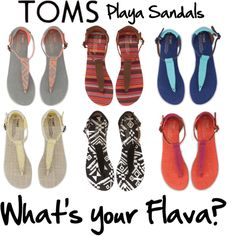 """TOMS Shoes Playa Sandals"""