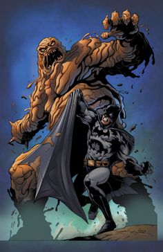 Batman vs Clayface by Frank M Cuonzo