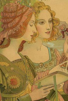 Légende Dorée (Golden Legend) by Armand Point, 1899 (detail)