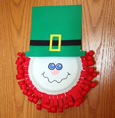 Silly Leprechanun Face Craft
