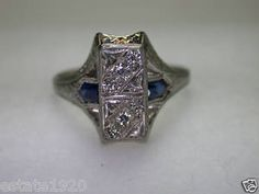 ANTIQUE ART DECO  DIAMOND ENGAGEMENT RING  CIRCA ~ 1930'S 6 ~ OLD EUROPEAN CUT DIAMONDS COLOR ~ G - H CLARITY ~ VS 2 - SI 1 TOTAL WEIGHT ~ .14CT T.W. METAL ~ 18KW SOLID GOLD WEIGHT ~ 3 GRAMS FINGER SIZE ~ 6.5 (SIZABLE) U.S.A. & CANADA
