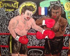 Mike Vs Rocky -  Acrylique sur toile -  2014  46/38