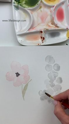 Painting florals with light washes of watercolor is one of my favorite ways to paint modern watercolors. You can learn more here www.lifeidesign.com/watercolorpainting Learn Watercolor Painting, Watercolor Paintings For Beginners, Watercolor Art Lessons, Watercolour Tutorials, Painting Lessons, Watercolor Techniques, Diy Painting, Watercolor Flowers, Tulip Drawing