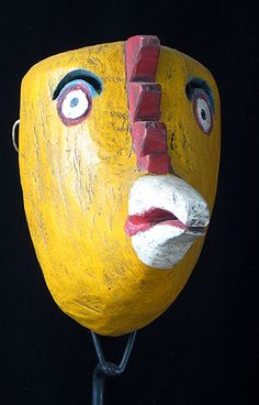 """Chicken mask, Vera Cruz; antiqued and """"made for sale"""""""