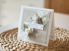 Wedding card by mamajudo, Jan 2017 Wedding Invitation Cards, Wedding Cards, Container, Jan 2017, Frame, Flowers, Handmade, Inspiration, Scrapbooking