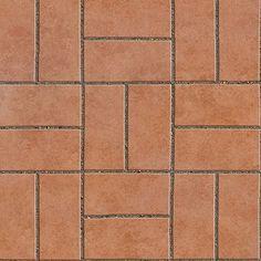 regular blocks terracotta outdoor floorings textures seamless - 90 textures
