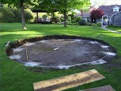 pool site set up