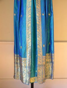 Vintage 1960's Queen of The Peacocks Gown / 60's by OurTownVintage