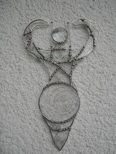 """Crystal Goddess"" Tiffany-Glaskunst-Fensterbild | KunstiX"