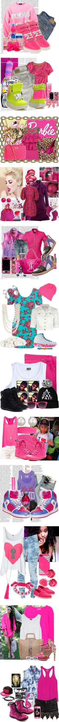 """""""Pink everything !"""" by laymarie ❤ liked on Polyvore"""